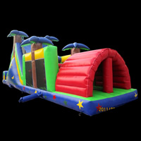 [GE089]tropical rainforest inflatable obstacles